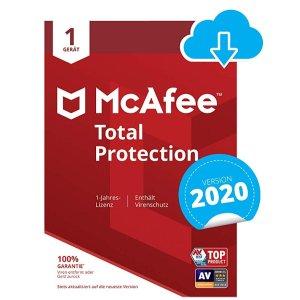 McAfee Total Protection 2020杀毒软件1设备1年份下载码 1.2折特价