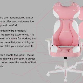 DXRacer 超萌粉色猫咪电竞椅测评 | 颜值舒适度功能性为一体的小仙女坐骑😍😍