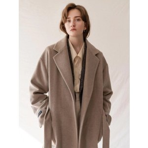 KINDERSALMONRacoon Blended Wool Coat Light Beige