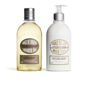 L'Occitane满$70减$20Almond Body Bath Duo