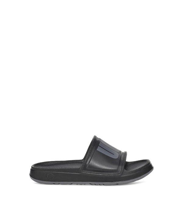 黑色logo拖鞋