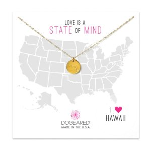 state of mind hawaii necklace, gold dipped