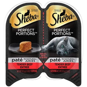 $6.55Sheba Perfect Portions Pate Wet Cat Food Trays