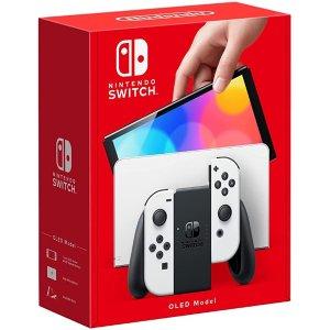 双色可选Nintendo Switch Console OLED Model - White