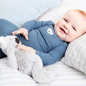 $4.99收全棉休闲裤Carter's 婴儿服饰清仓 低至3折 100%纯棉 $9.99收连体衣4件