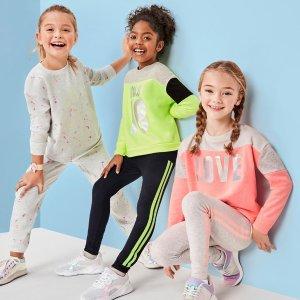 $5.97起 包邮 新年动起来The Children's Place官网 儿童运动服饰低至5折热卖