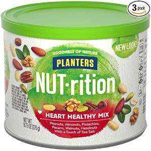 现价$17.82 (现价$20.97)Planters 营养健康坚果混合装 9.75 oz. 3罐