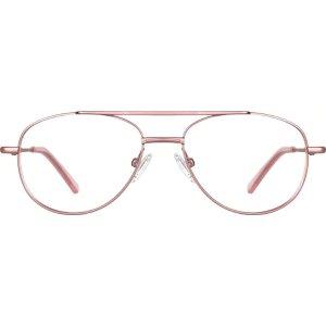 Rose Gold Aviator Glasses #419019   Zenni Optical Eyeglasses