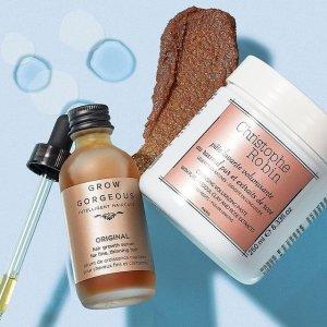 购2件享7折+送好礼SkinCareRx 精选护发 GG生发精华套装、CR海盐洗发泥 拯救秃头