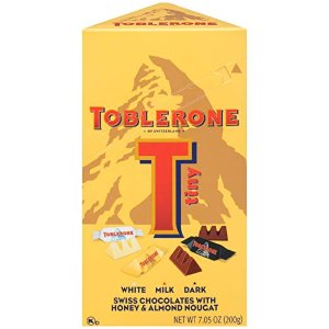$4.62 精品巧克力超值入史低价:Toblerone 瑞士三角迷你巧克力 混合口味装 7.05oz