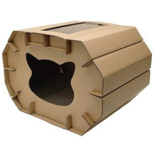 Cat Love Cozy Scratcher Den