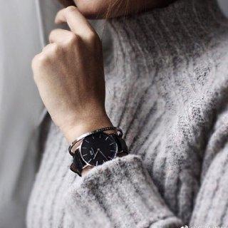 会员到手¥609Daniel Wellington 黑表盘皮带 情侣款石英腕表