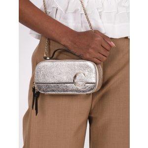 ChloeMini C Vanity Bag, Silver