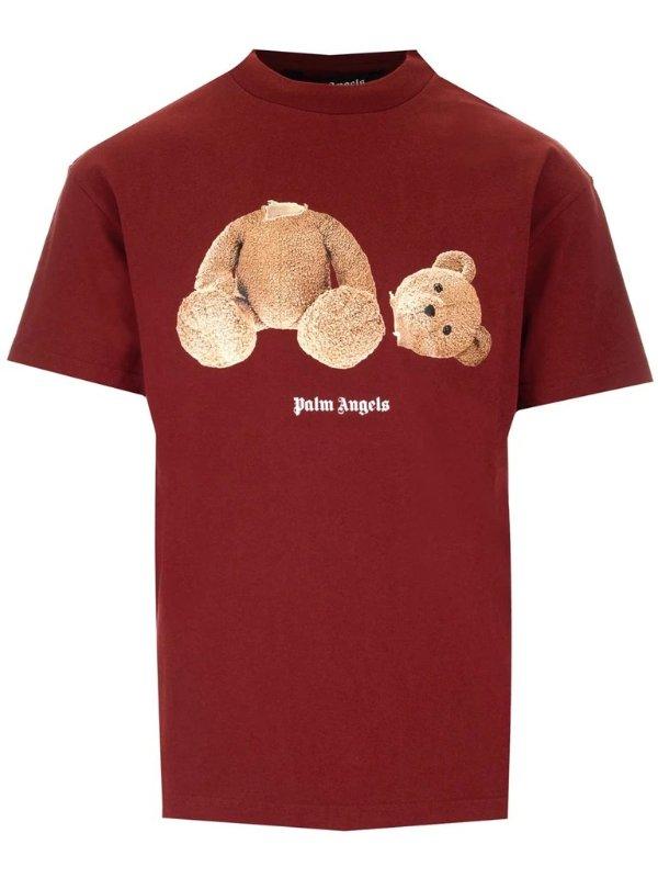 断头熊红色T恤