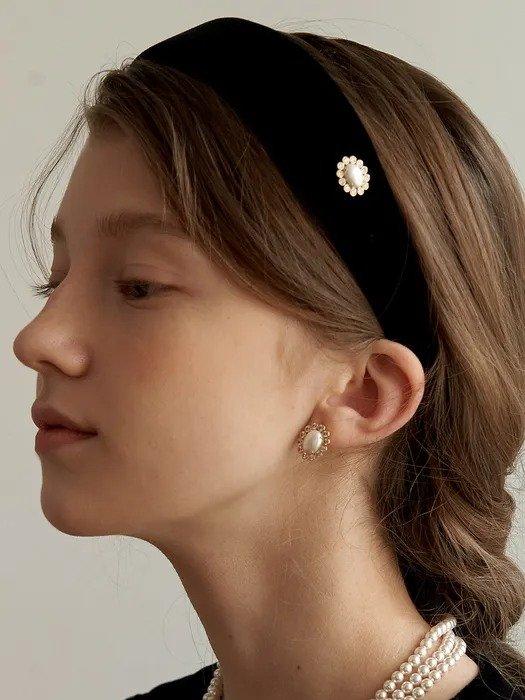 丝绒珍珠发夹