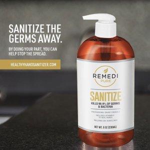 低至$17.98Remedi Pure 含酒精免洗洗手液 8oz 多瓶装热卖