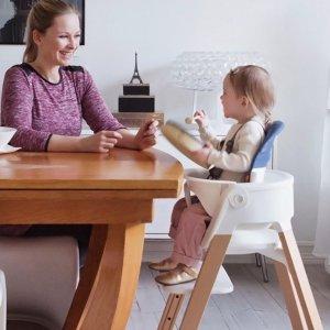 立省$49+无税 高颜值简约风Stokke Steps 儿童多功能餐椅特卖 白色款