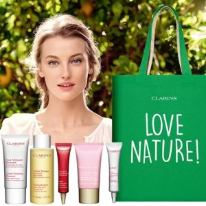 6-pc free gift ($88 Value)on Orders over $100 @ Clarins