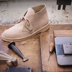 $61.44起(原价$100.00)Clarks Bushacre 2 招牌款男士沙漠靴热卖