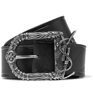Saint Laurent - 4.5cm Black Leather Belt