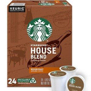 $0.39 per PodStaples Starbucks K-Cup Pods $15 Off on Orders $60+