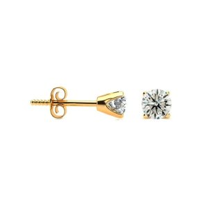 SuperJeweler1/3 Carat Diamond Stud Earrings In 14 Karat Yellow Gold