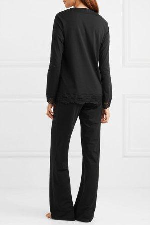 La Perla Tres Souple Leavers lace-trimmed jersey pajama set