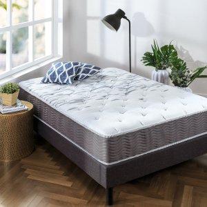 $190.99Zinus 睡眠大师超硬记忆棉弹簧10英寸床垫 Queen