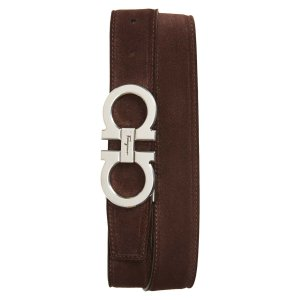 Salvatore FerragamoDouble Gancio Buckle Suede Belt