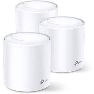 7.5折 现价€299(原价€399.99)TP-Link Deco X20 WiFi 6 AX1800 全屋WiFi系统 3个