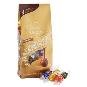 $10.69 Lindt LINDOR Assorted Chocolate Truffles, Kosher, 21.2 Ounce Bag @ Amazon.com
