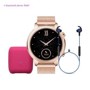 Honor赠送表带+€20代金券Magic Watch 2 42mm智能手表 玫瑰金