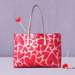 全场8折 折扣区低至4折情人节好礼物:Kate Spade 轻奢美包热卖 爱心、桃心款都等你收