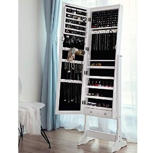 $123($152.65)+Free Shipping SONGMICS 6 LEDs Jewelry Cabinet
