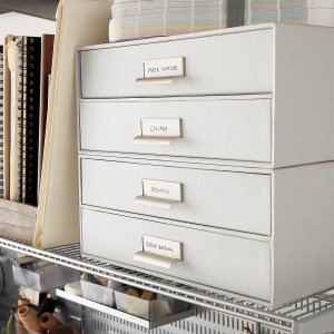 The Container StoreBigso Light Grey Stockholm Paper Drawers