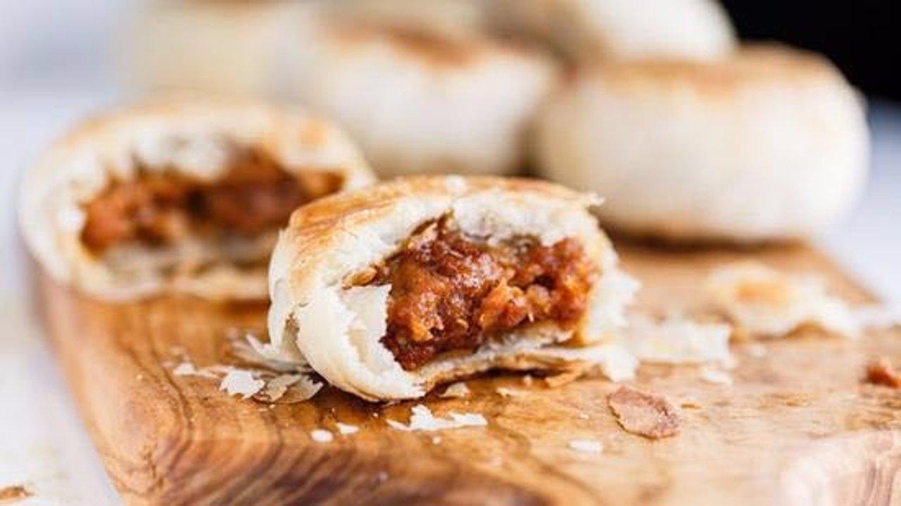 懒人版苏式鲜肉月饼&法式蓝莓乳酪月饼,香酥可口简单快手
