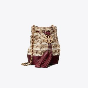 Tory BurchFleming Soft Tweed Mini Bucket Bag