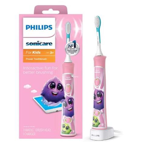 $44.01包邮(原价$53.9)Philips Sonicare 儿童电动牙刷 粉色版 小公主专属