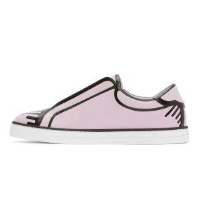 仅$697(原价$1040)Fendi 视觉艺术Joshua Vides联名款运动鞋 变相6.7折