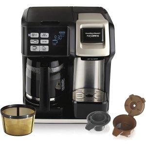 $99.99包邮(原价$129.99)Hamilton-Beach FlexBrew 2合一可编程咖啡机 12杯量