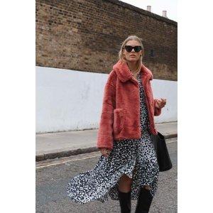 Crop Fur Coat