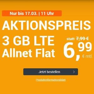 月租€6.99 带号入网送10欧特价+免接通费 包月所有电话/短信+3GB上网+欧盟漫游