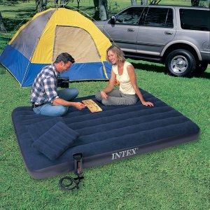 $23.24(原价$73.74)Intex 经典Queen Size 双人充气床套装,方便不占地儿