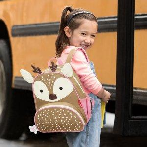 8折无税 收新品梅花鹿、冬季熊餐具套装Skip Hop 儿童背包、尿布包、玩具、餐具等特价促销