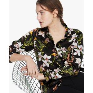 LILYSILKBOGO 40% offStylish Lily Print Silk Blouse
