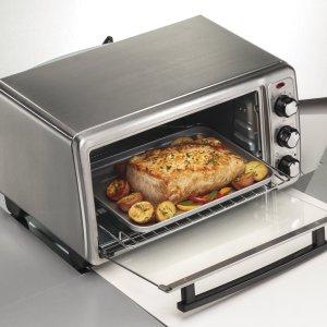 $32.99 (原价$64.98) 5折史低价:Hamilton-Beach 31411 6片吐司容量家用烤箱