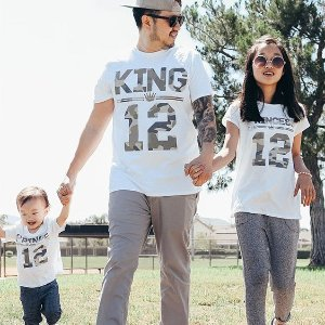 3.8   Up Matching Clothes with Dad and Whole Family   Children s Place c41cb7cefa2c