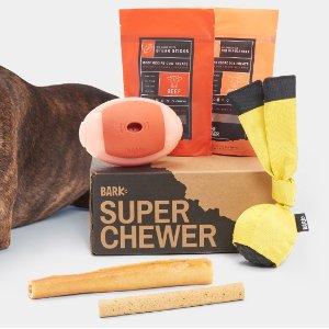 超耐嚼礼盒 每月多送一个玩具Super Chewer 实力派狗狗专享订阅礼盒热卖