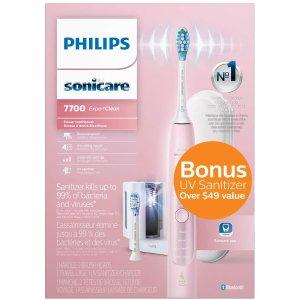 $179.99赠紫外线消毒3色可选史低价:Philips Sonicare ExpertClean 7700 声波震动电动牙刷 HX9630