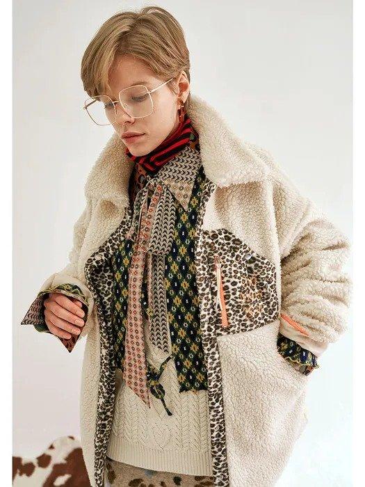 豹纹摇粒绒外套